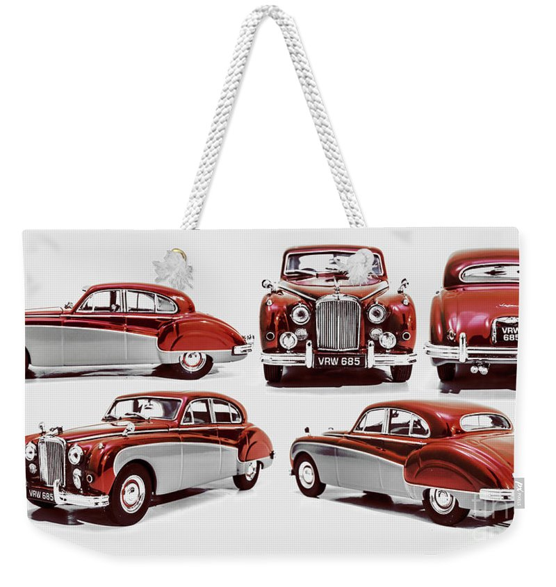Jaguar Weekender Tote Bag featuring the photograph Classically British by Jorgo Photography - Wall Art Gallery