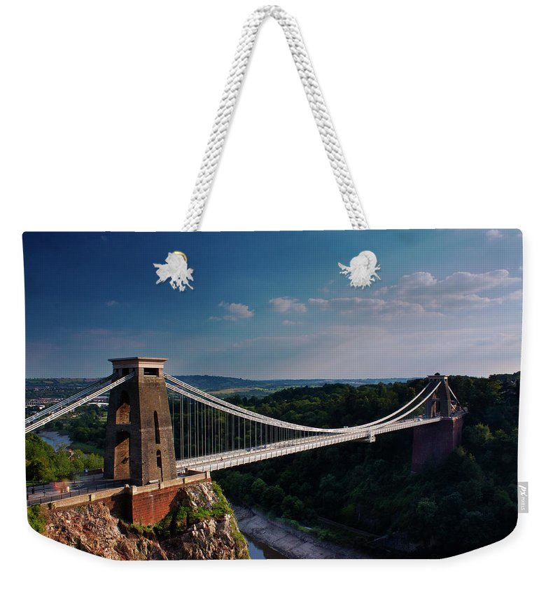 Tranquility Weekender Tote Bag featuring the photograph Clifton Suspension Bridge by Clive Rees Photography
