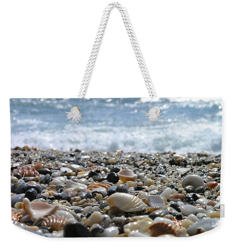 Animal Shell Weekender Tote Bag featuring the photograph Close Up From A Beach by Romeo Reidl