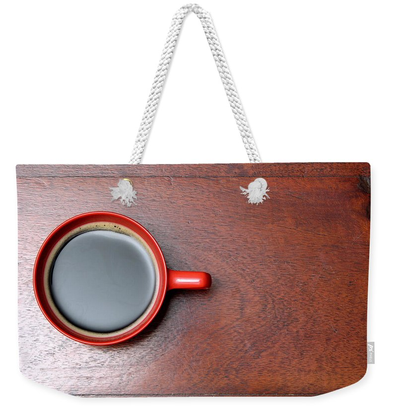 Motivation Weekender Tote Bag featuring the photograph Coffee Chill Out by Fotografiabasica