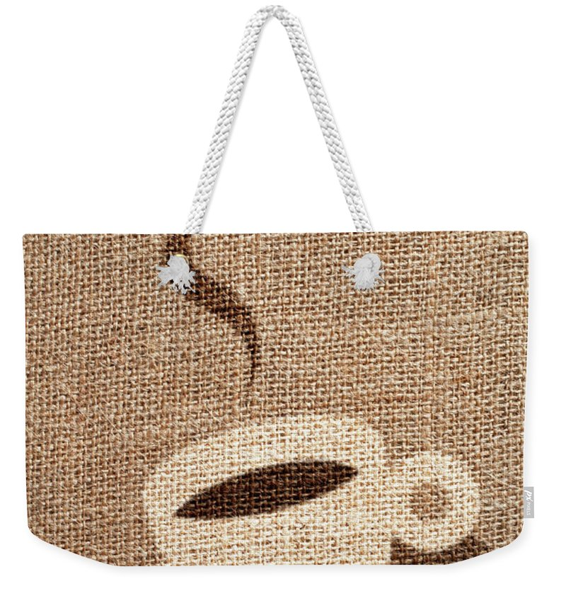 Fiber Weekender Tote Bag featuring the photograph Coffee Cup by Malerapaso