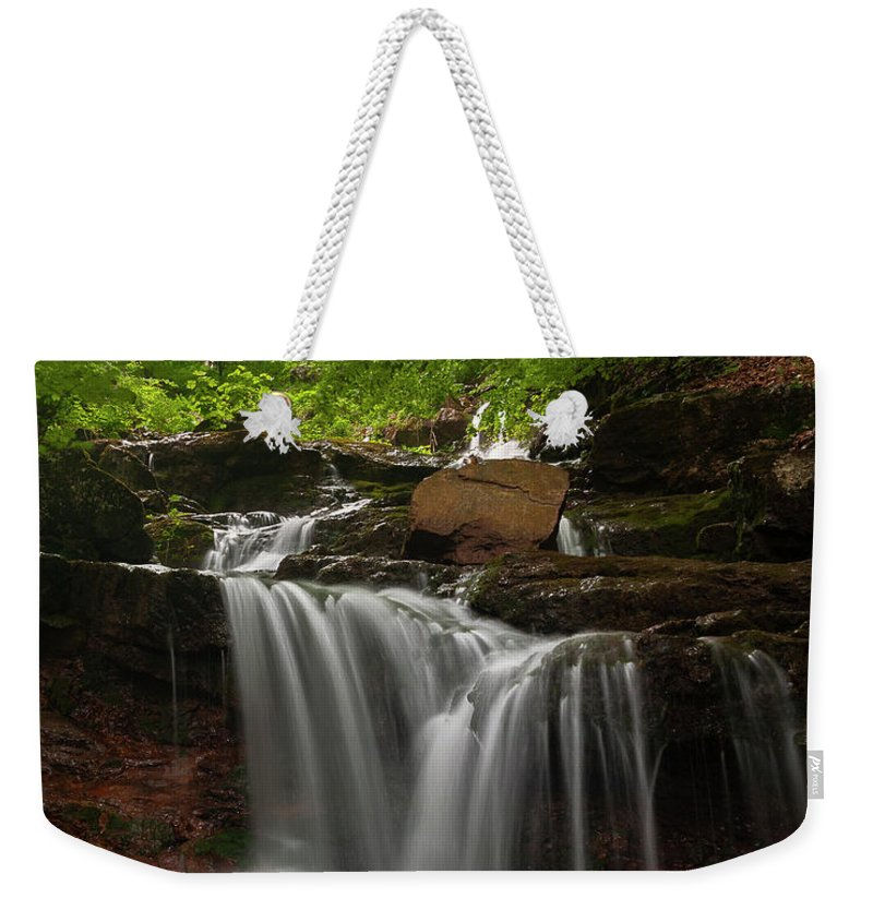 Rapid Weekender Tote Bag featuring the photograph Cold River by Evgeni Dinev