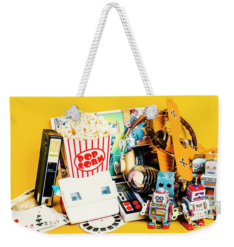 Toy Weekender Tote Bag featuring the photograph Collectible Corner by Jorgo Photography - Wall Art Gallery