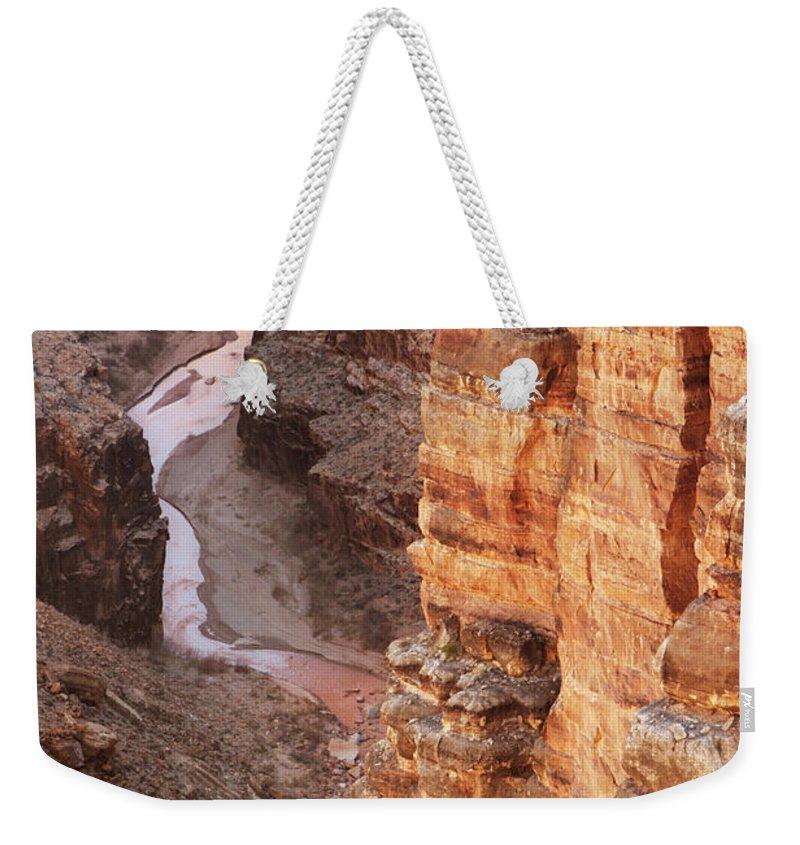 Water's Edge Weekender Tote Bag featuring the photograph Colorado River Glen Canyon Gorge by Chuckschugphotography