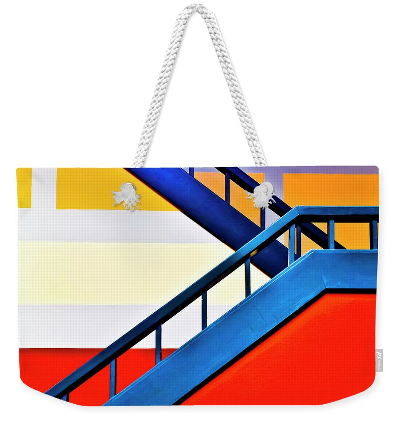 In A Row Weekender Tote Bag featuring the photograph Colorful Climb by By Wesbs