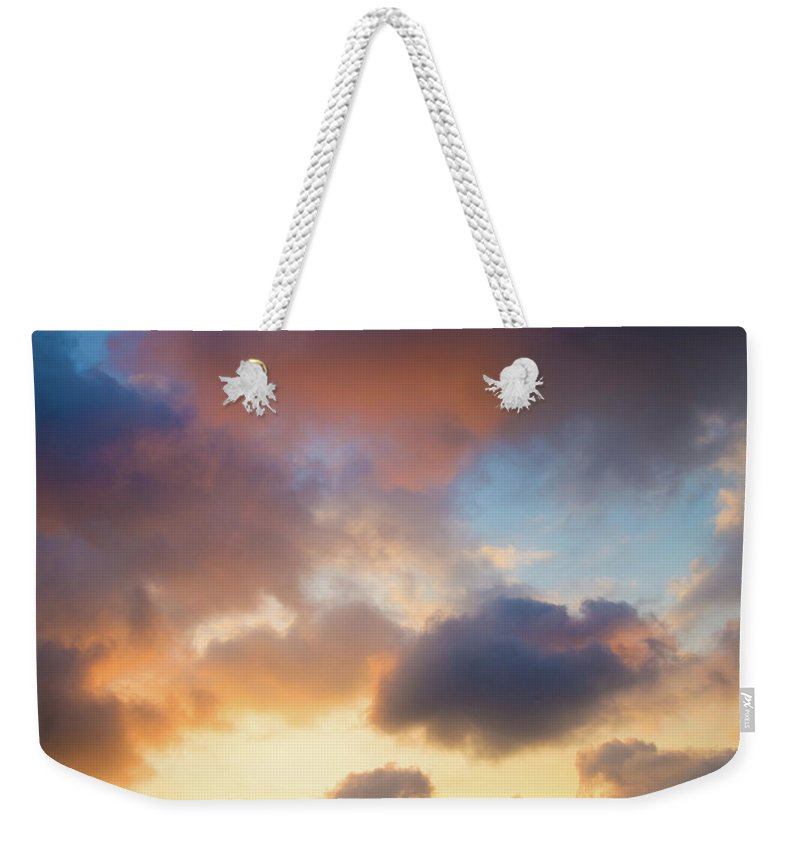 Clouds Weekender Tote Bag featuring the photograph Colorful Clouds by Christopher Johnson