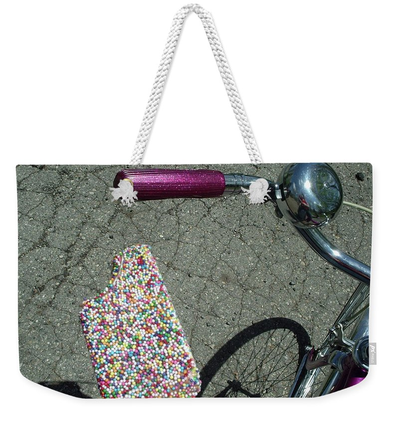 Shadow Weekender Tote Bag featuring the photograph Colorful Ice Cream Bar And Vintage by Luisa Pelipetz
