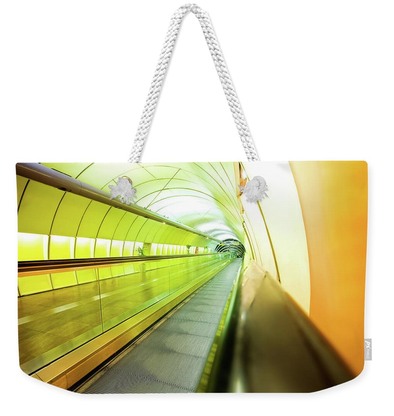 Pedestrian Weekender Tote Bag featuring the photograph Colourful Walkway by Nikada