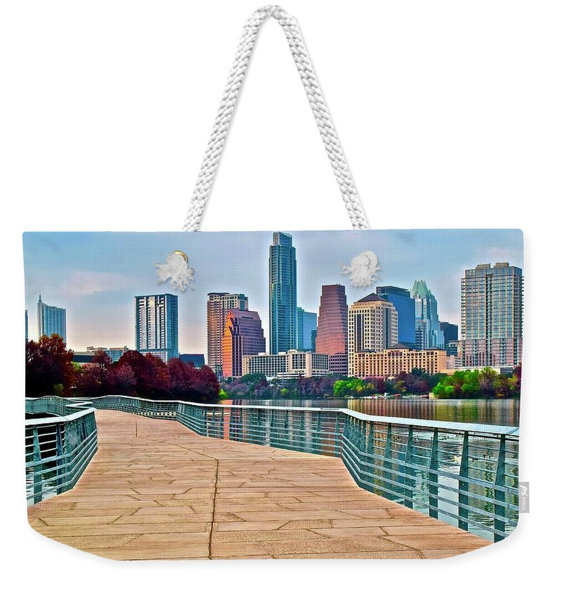 Austin Weekender Tote Bag featuring the photograph Come To Austin Texas by Frozen in Time Fine Art Photography