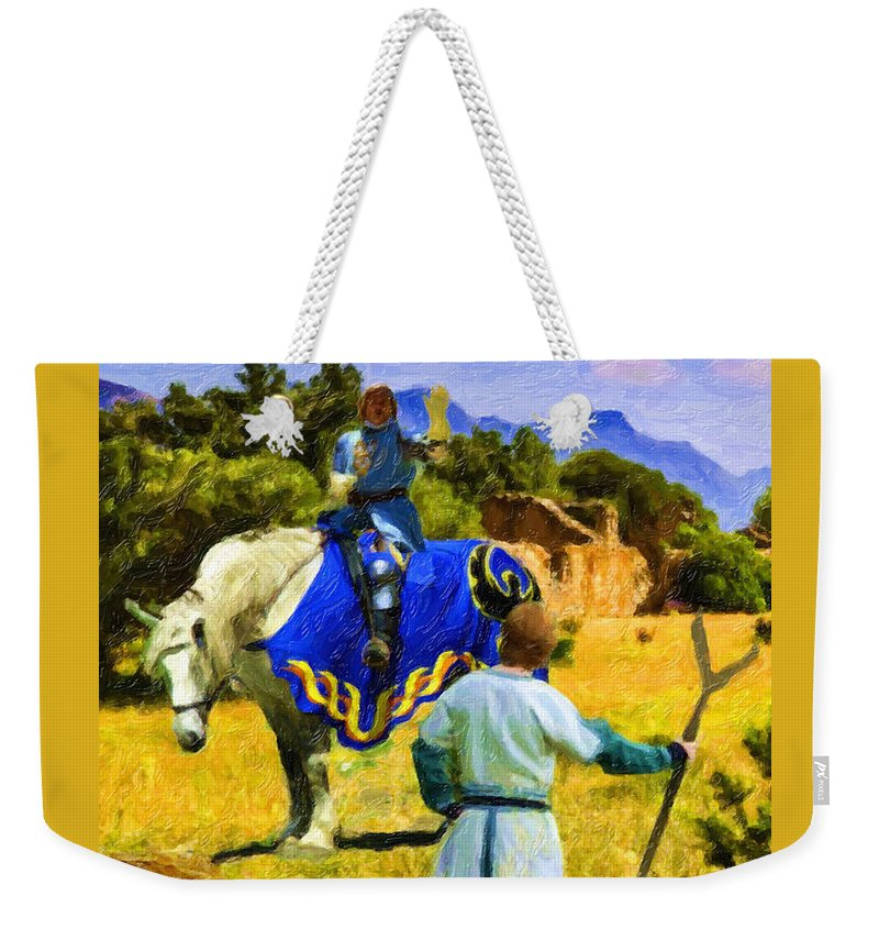 Medieval Image Weekender Tote Bag featuring the digital art Coming To A Conclusion by David Zimmerman