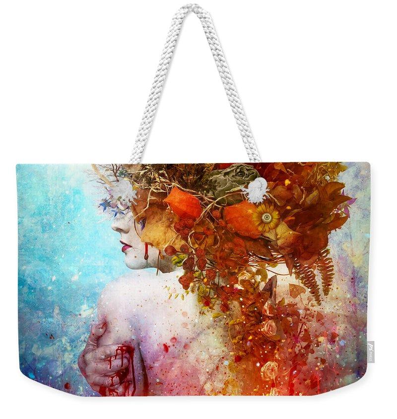 Compassion Digital Art Weekender Tote Bags