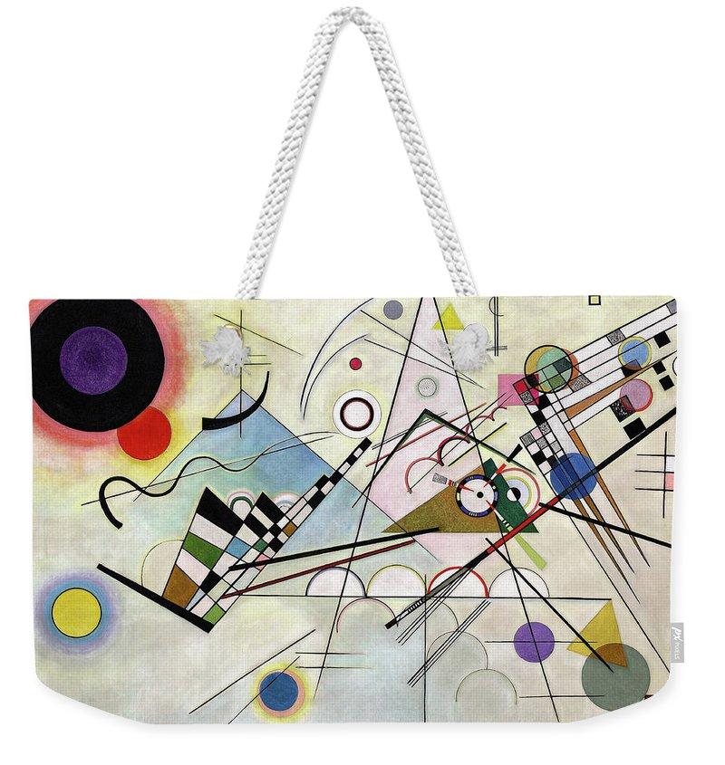 Kandinsky Composition Weekender Tote Bag featuring the painting Composition 8 - Komposition 8 by Wassily Kandinsky