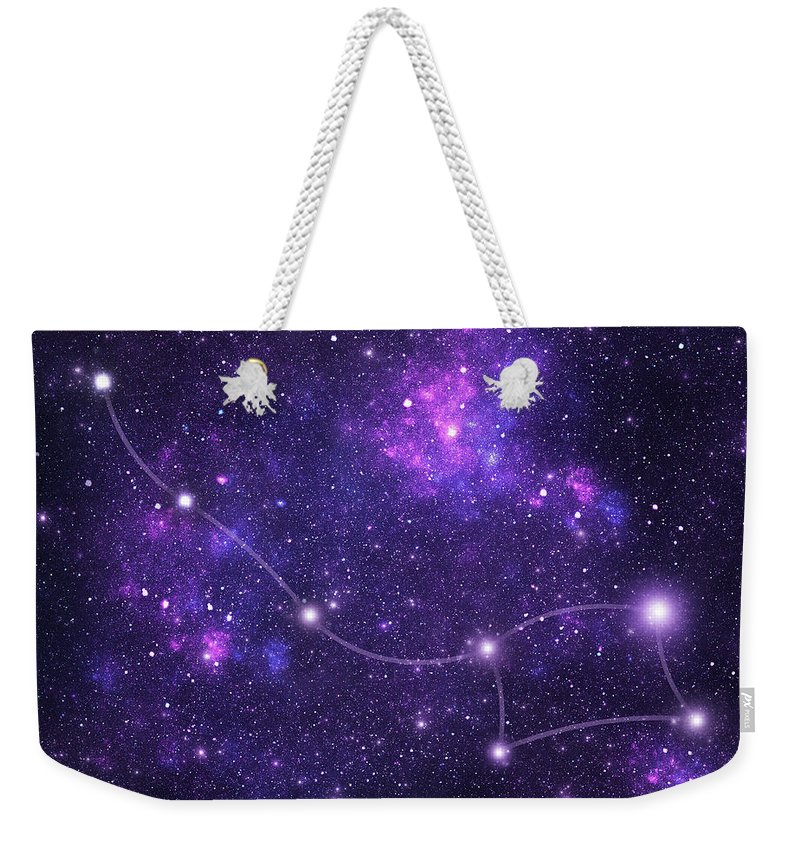 Dust Weekender Tote Bag featuring the photograph Constellations. Ursa Minor Umi by Sololos