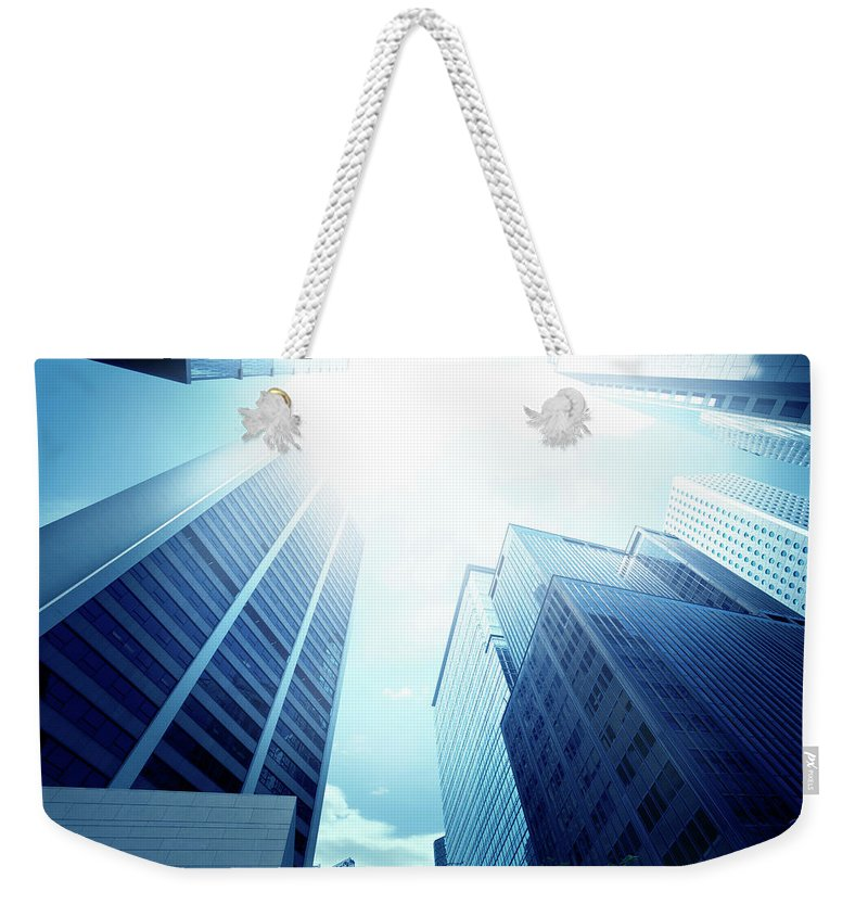 Chinese Culture Weekender Tote Bag featuring the photograph Contemporary Office Building by Ithinksky