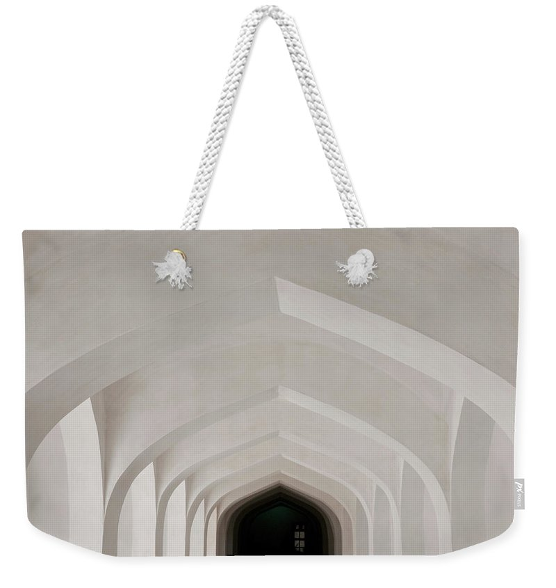 Tranquility Weekender Tote Bag featuring the photograph Corridor In Amer Fort, Rajasthan, India by Cultura Exclusive/karen Fox