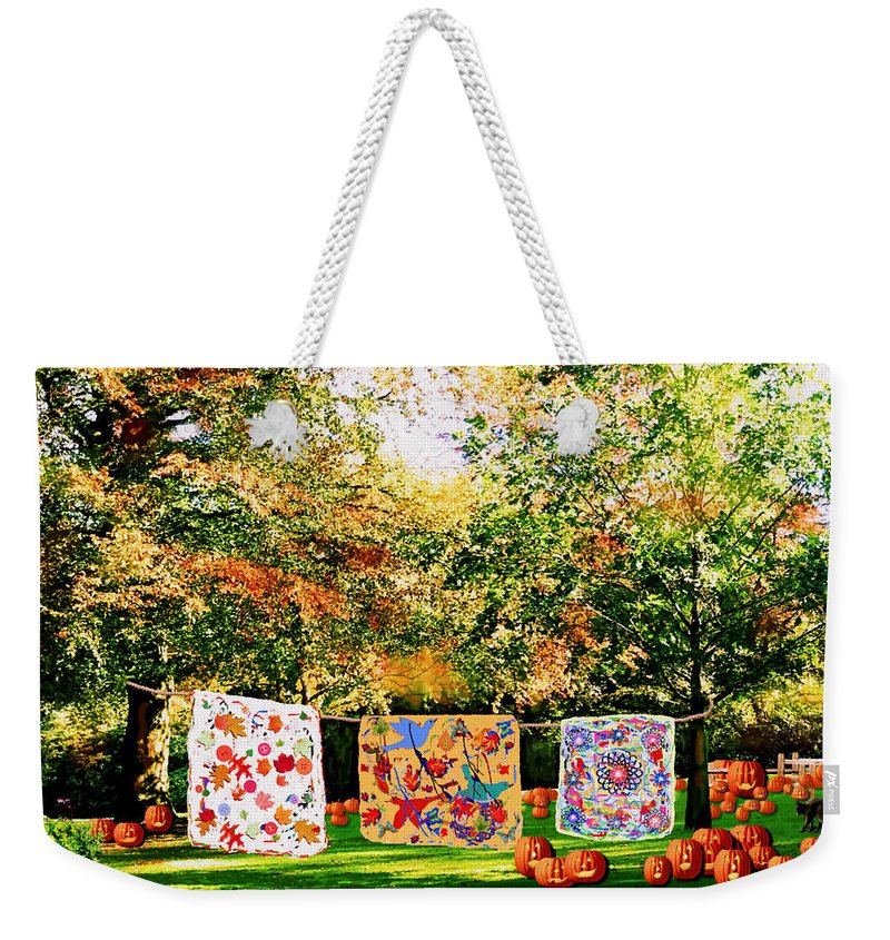 Forest Weekender Tote Bag featuring the photograph Country Autumn by Natalie Holland