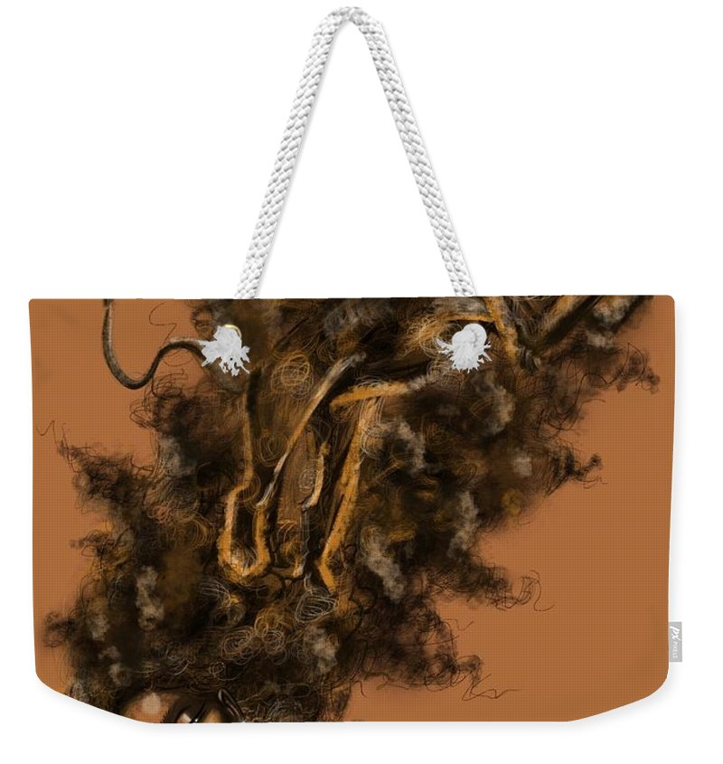 Lion Weekender Tote Bag featuring the painting Courageous Me by Artist RiA