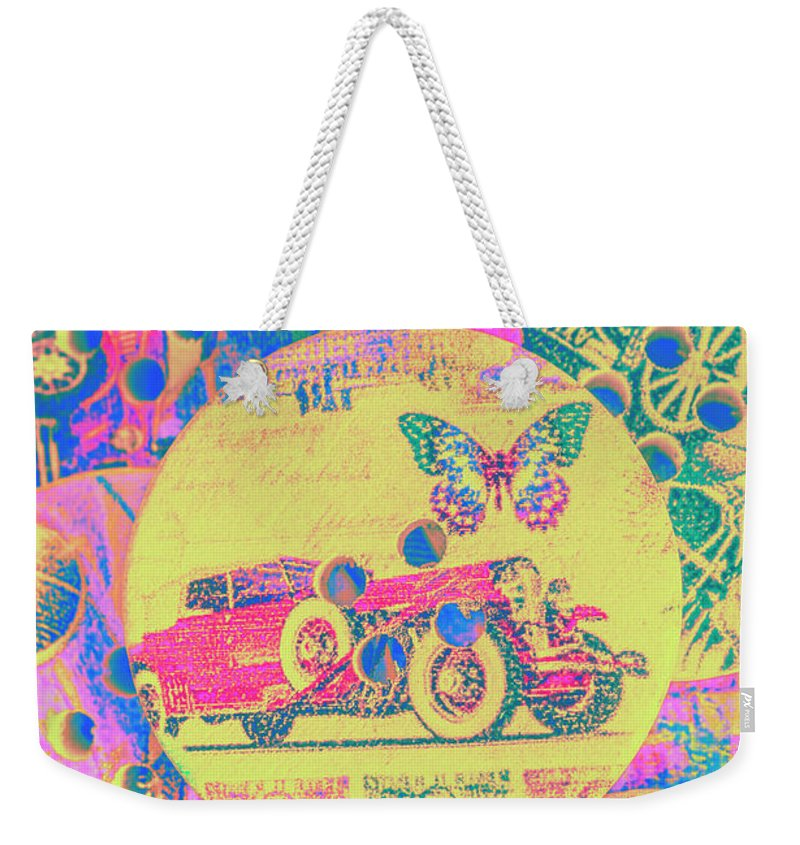 Transport Weekender Tote Bag featuring the photograph Crafty Car Commercial by Jorgo Photography - Wall Art Gallery