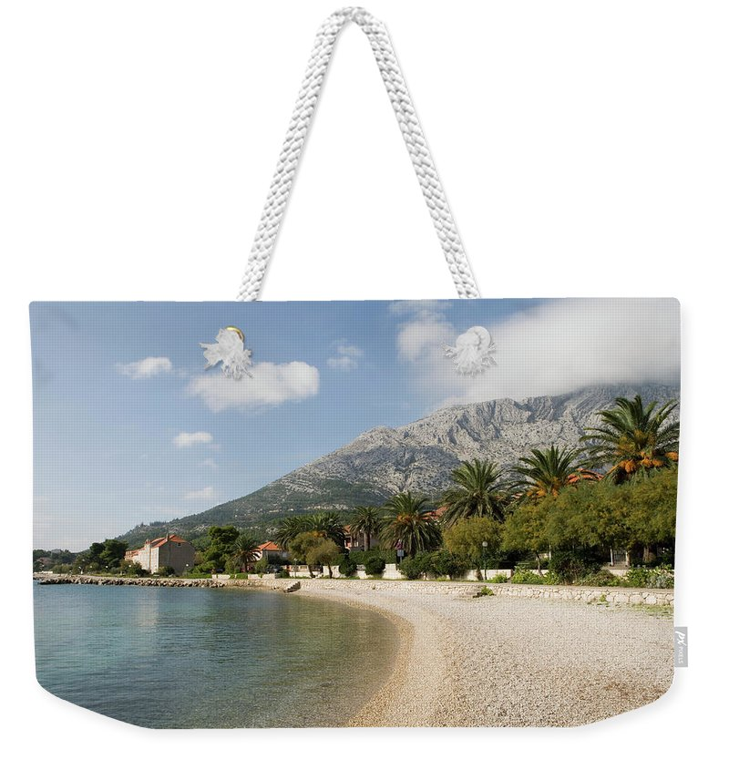 Tranquility Weekender Tote Bag featuring the photograph Croatia, Dalmation Coast, Orebi, Houses by Martin Child