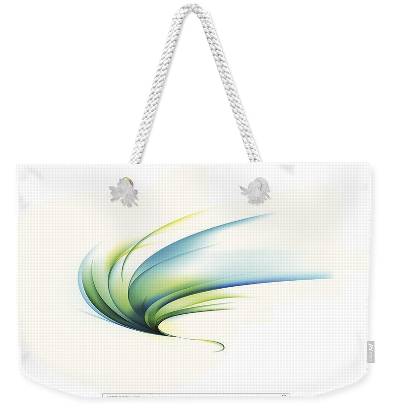 Curve Weekender Tote Bag featuring the digital art Curved Shape On White Background by Eastnine Inc.