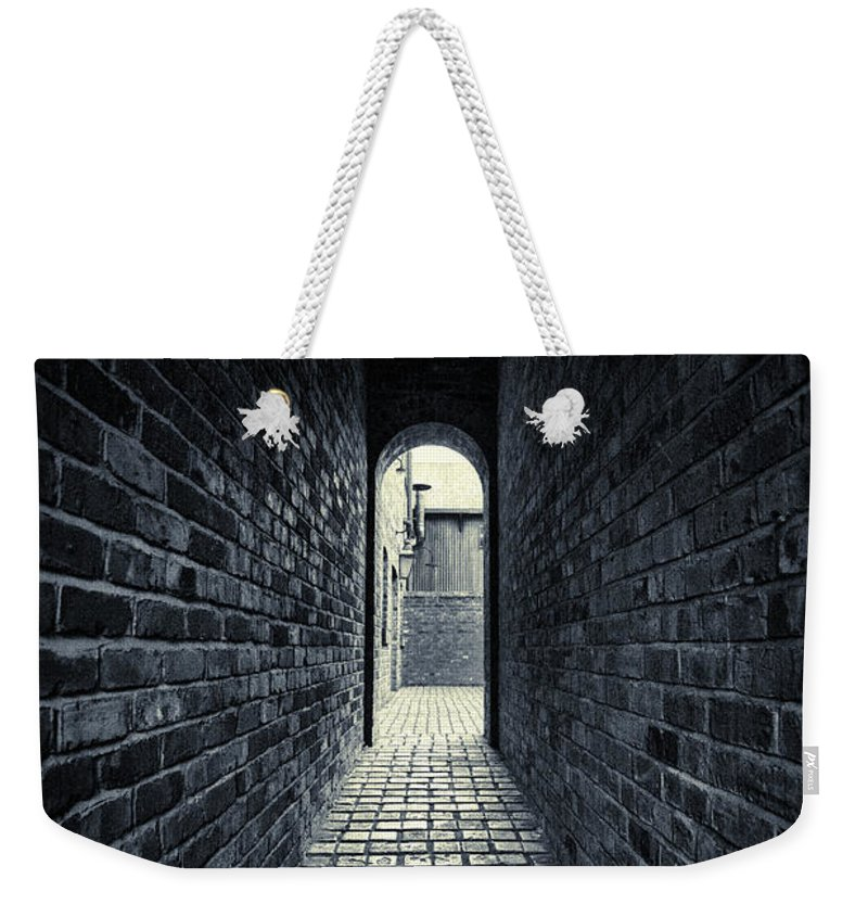 Horror Weekender Tote Bag featuring the photograph Dark Alley by Duncan1890