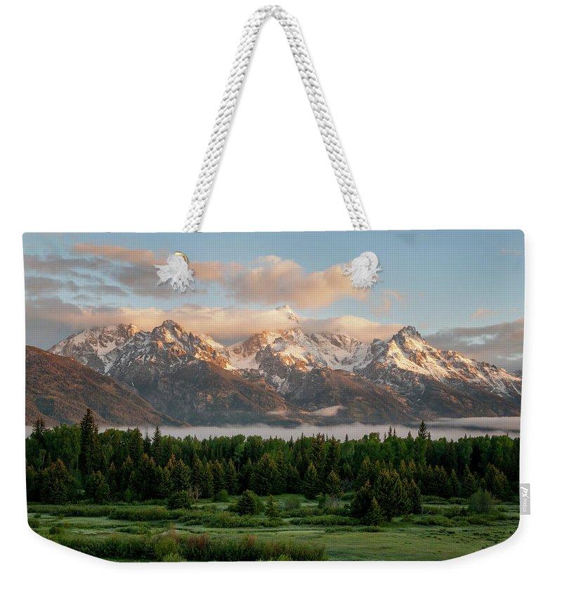 Teton Range Weekender Tote Bags