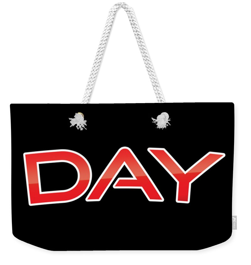 Day Weekender Tote Bag featuring the digital art Day by TintoDesigns