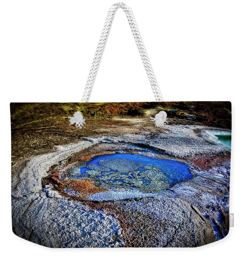Tranquility Weekender Tote Bag featuring the photograph Dead Sea Sink Holes by Photostock-israel
