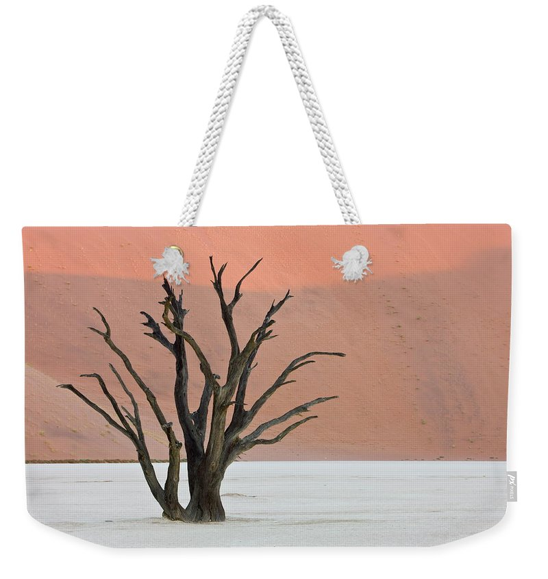 Scenics Weekender Tote Bag featuring the photograph Dead Vlei Sossusvlei Africa Namibia by Thorsten Milse / Robertharding