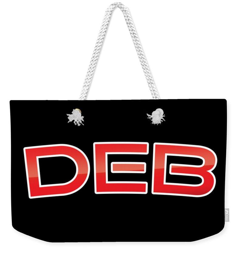 Deb Weekender Tote Bag featuring the digital art Deb by TintoDesigns