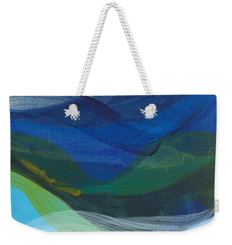 Abstract Weekender Tote Bag featuring the painting Deep Sleep Undone by Claire Desjardins