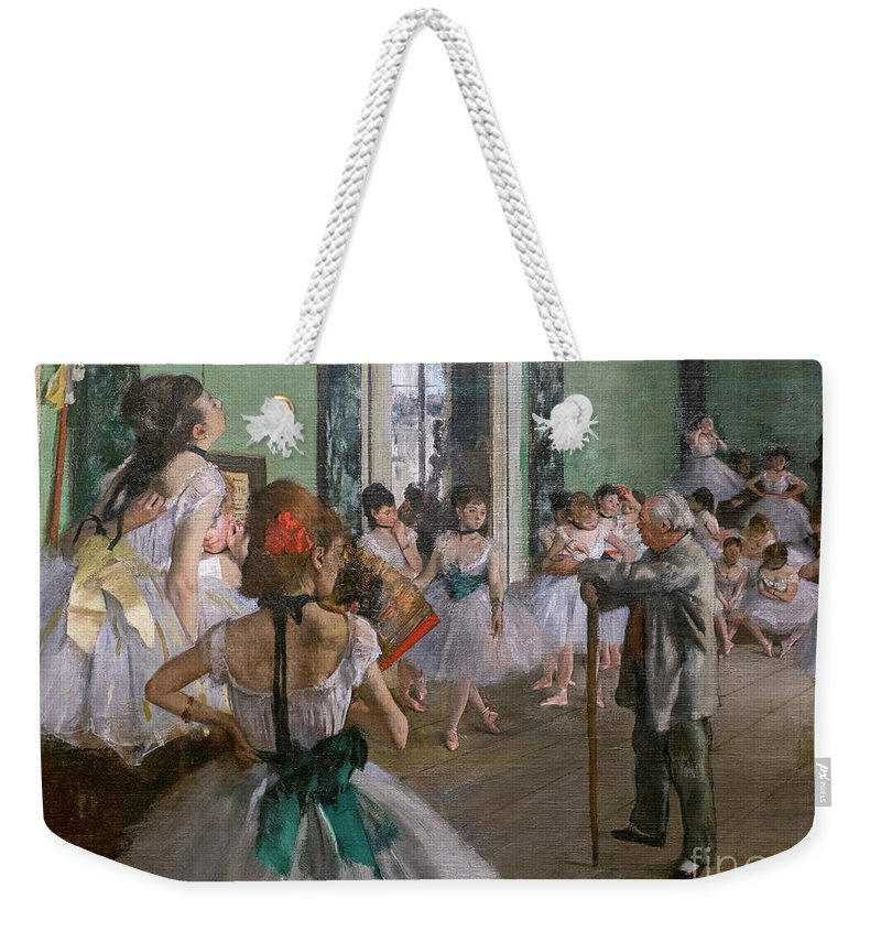 Dance Weekender Tote Bag featuring the painting Degas, The Dance Class Detail by Edgar Degas
