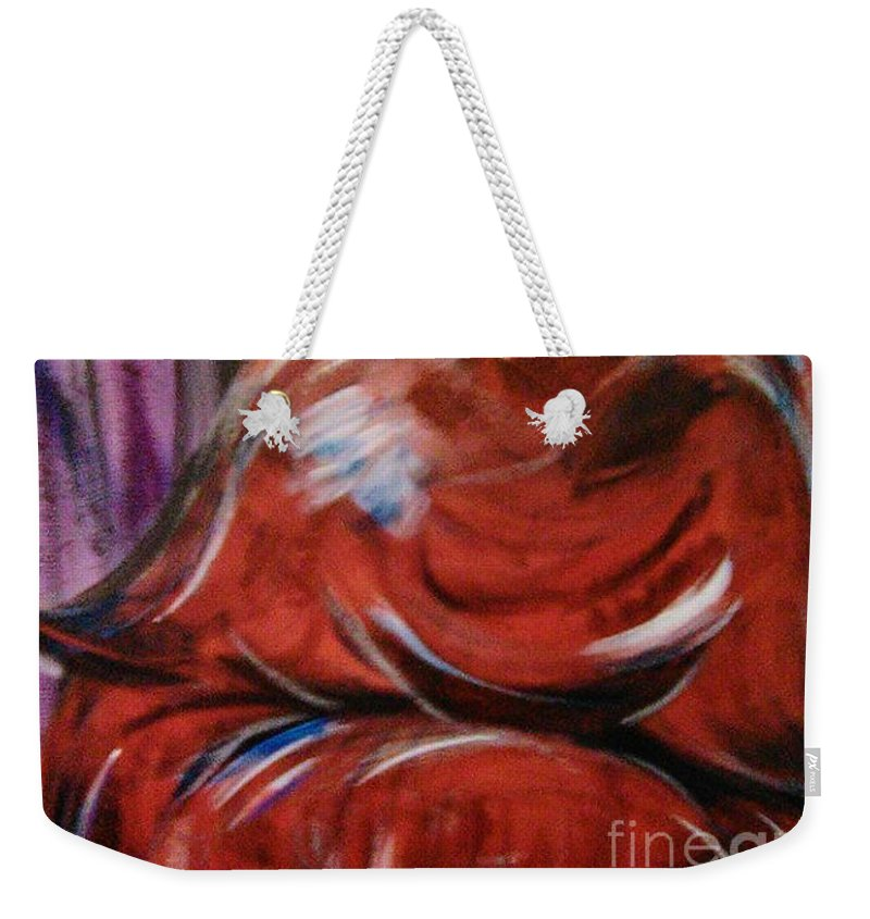 Painting Weekender Tote Bag featuring the painting Depth by Jonathan Peterson