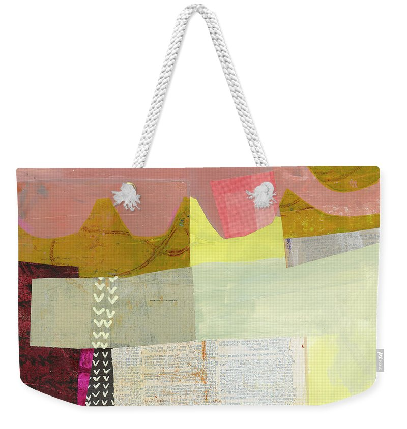 Abstract Art Weekender Tote Bag featuring the painting Desert Dream #6 by Jane Davies