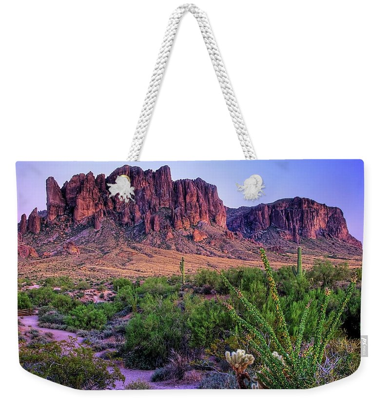 Tranquility Weekender Tote Bag featuring the photograph Desert Trail by Patti Sullivan Schmidt