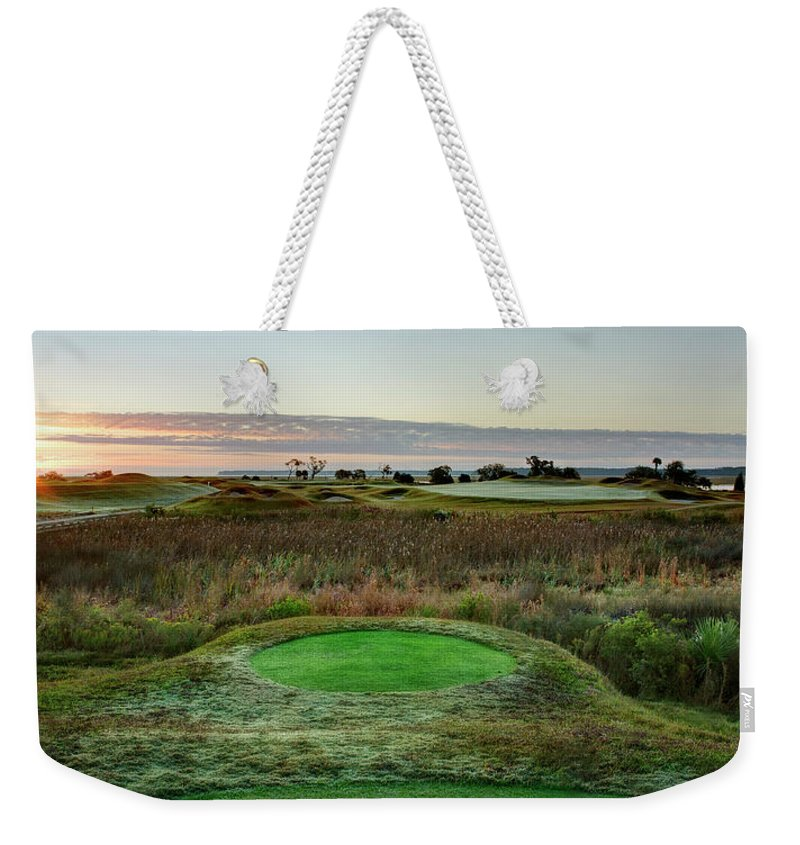 Beaufort County Weekender Tote Bag featuring the photograph Dew In The Morning by Phill Doherty