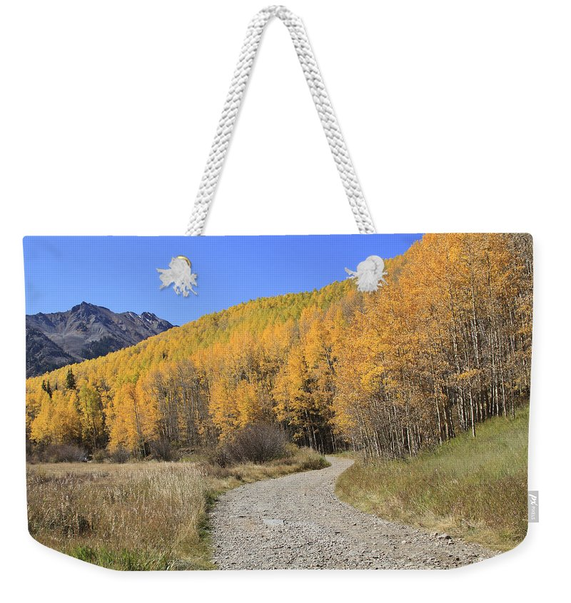 Scenics Weekender Tote Bag featuring the photograph Dirt Road In The Elk Mountains, Colorado by John Kieffer