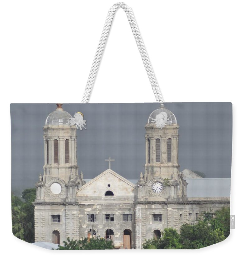 Building Weekender Tote Bag featuring the photograph Domed Towers by John Hughes
