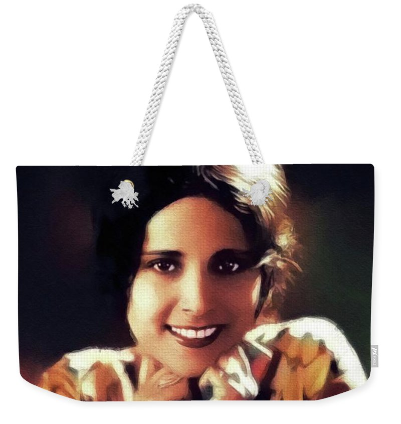 Dorothy Weekender Tote Bag featuring the painting Dorothy Janis, Vintage Actress by John Springfield