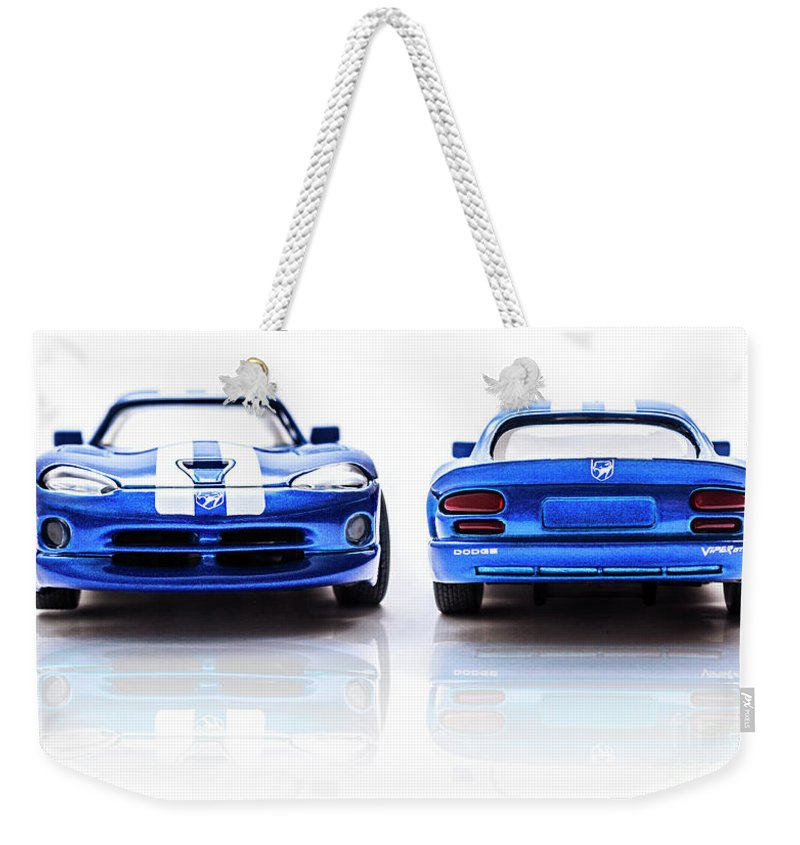 Automotive Weekender Tote Bag featuring the photograph Double The Sting by Jorgo Photography - Wall Art Gallery