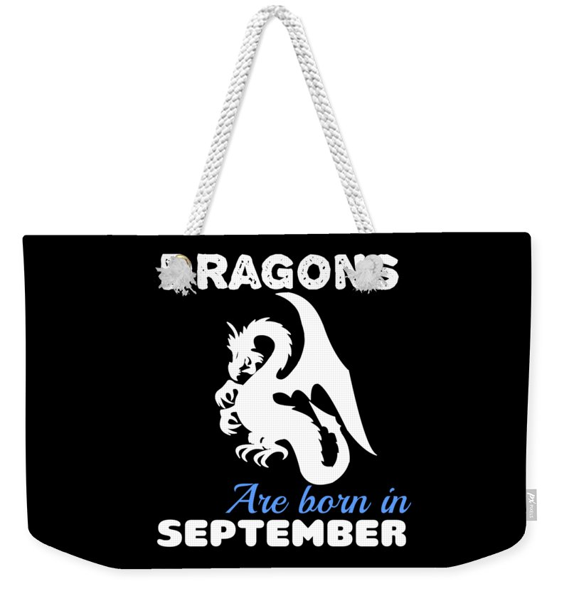 Birthday Weekender Tote Bag featuring the digital art Dragons Are Born September by Kaylin Watchorn
