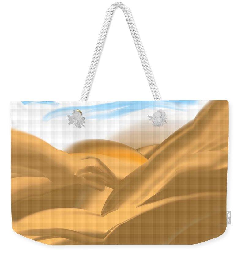 Dreams Weekender Tote Bag featuring the digital art Dream Baby by Joan Ellen Kimbrough Gandy of The Art of Gandy