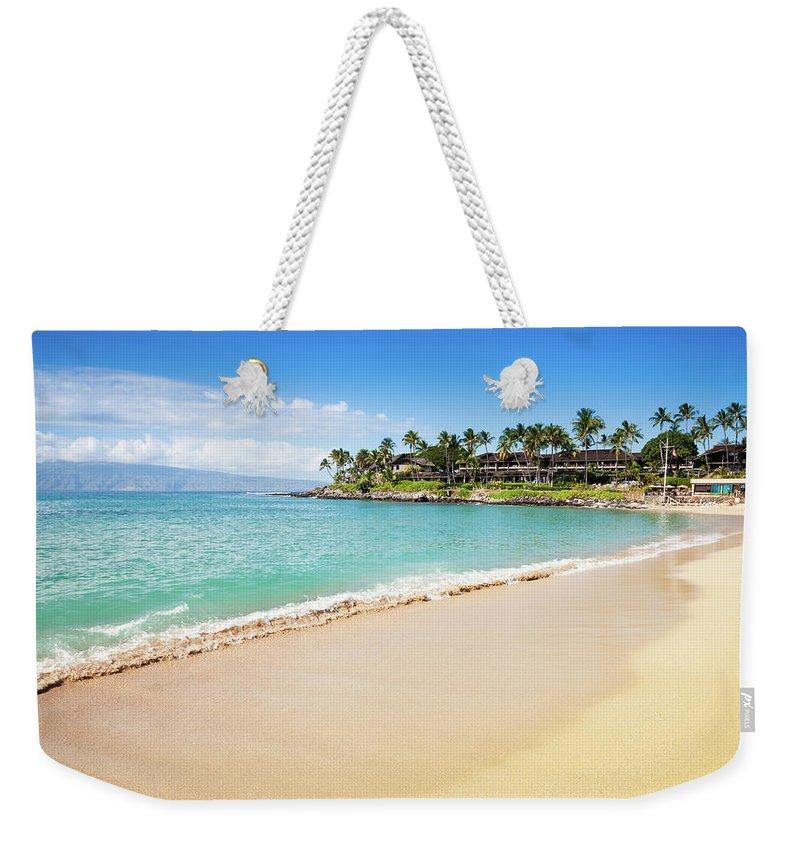Lahaina Weekender Tote Bag featuring the photograph Dream Beach Napili Bay Maui Hawaii by Mlenny