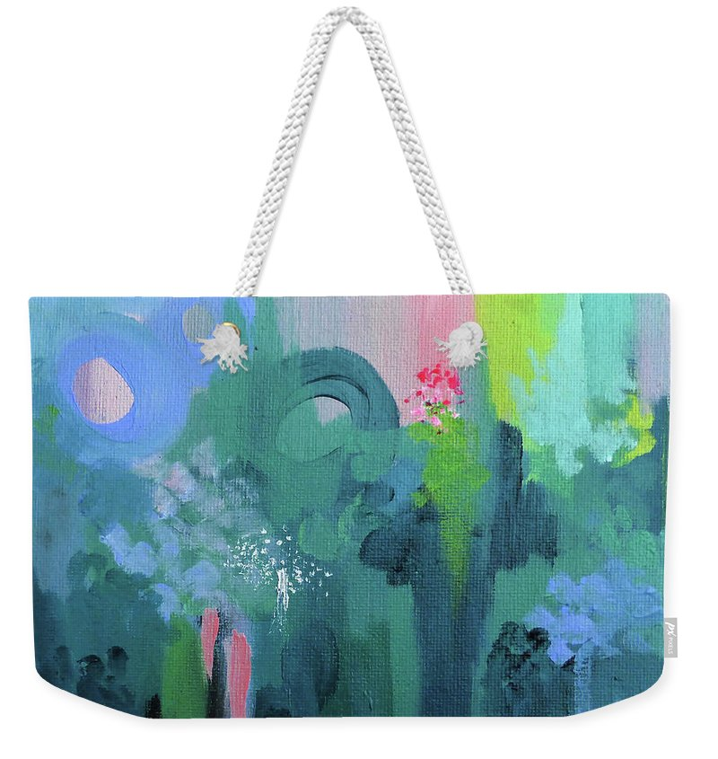 Sunset Weekender Tote Bag featuring the painting Dreamwalk 2 by Jordan Harcourt-Hughes