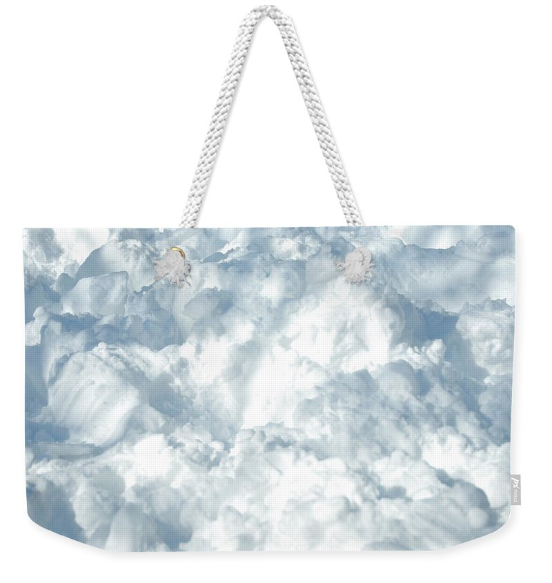 Heap Weekender Tote Bag featuring the photograph Drifted Snow by Lyn Holly Coorg