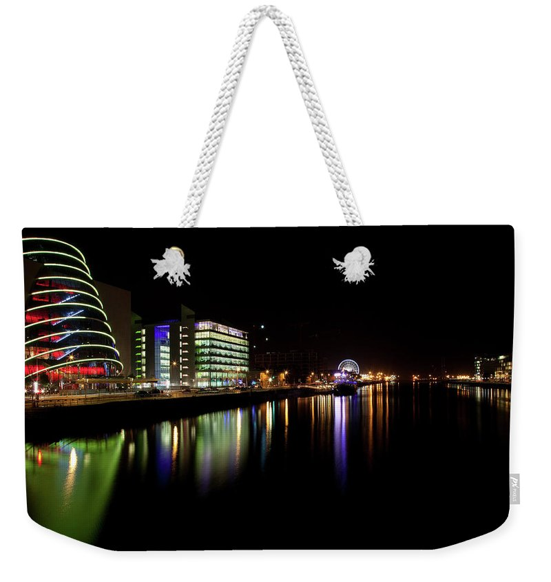 Dublin Weekender Tote Bag featuring the photograph Dublin City Along Quays by Image By Daniel King