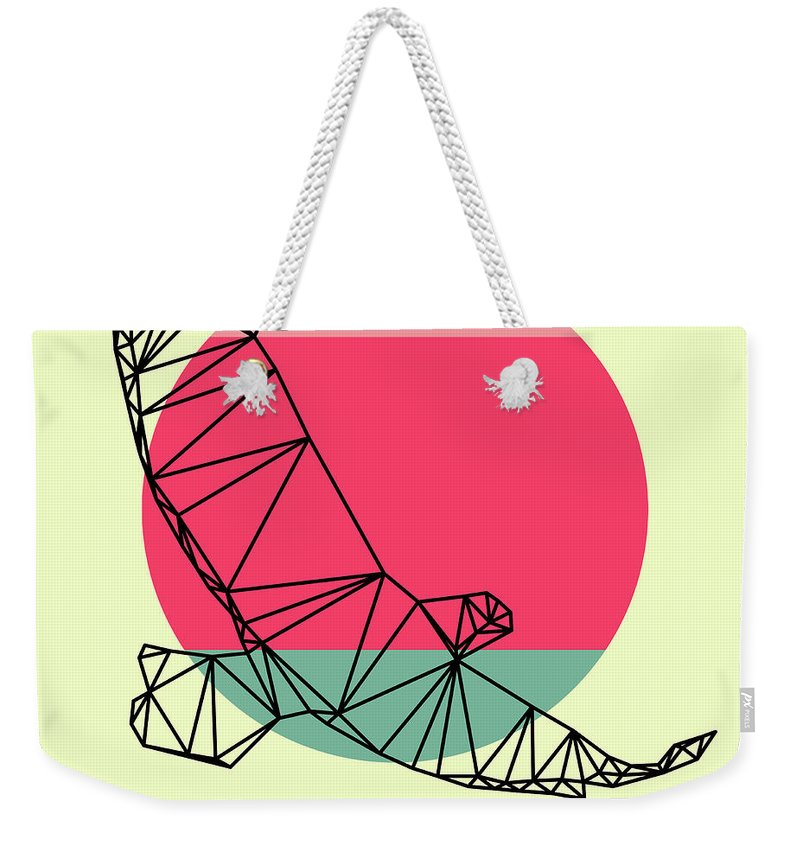 Eagle Weekender Tote Bag featuring the digital art Eagle And Sunset by Naxart Studio