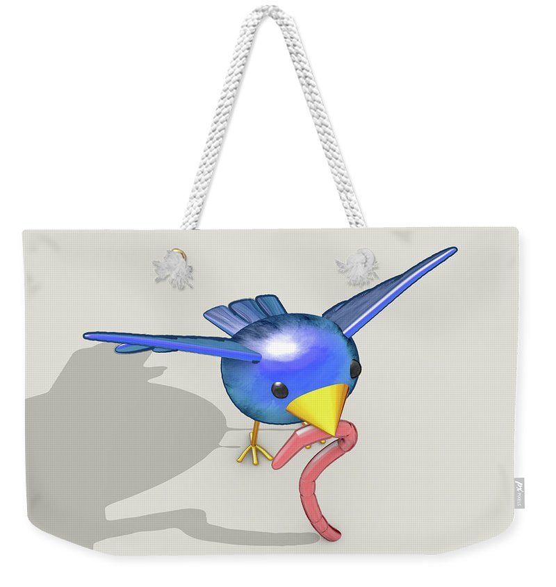 Early Bird Digital Art Weekender Tote Bags