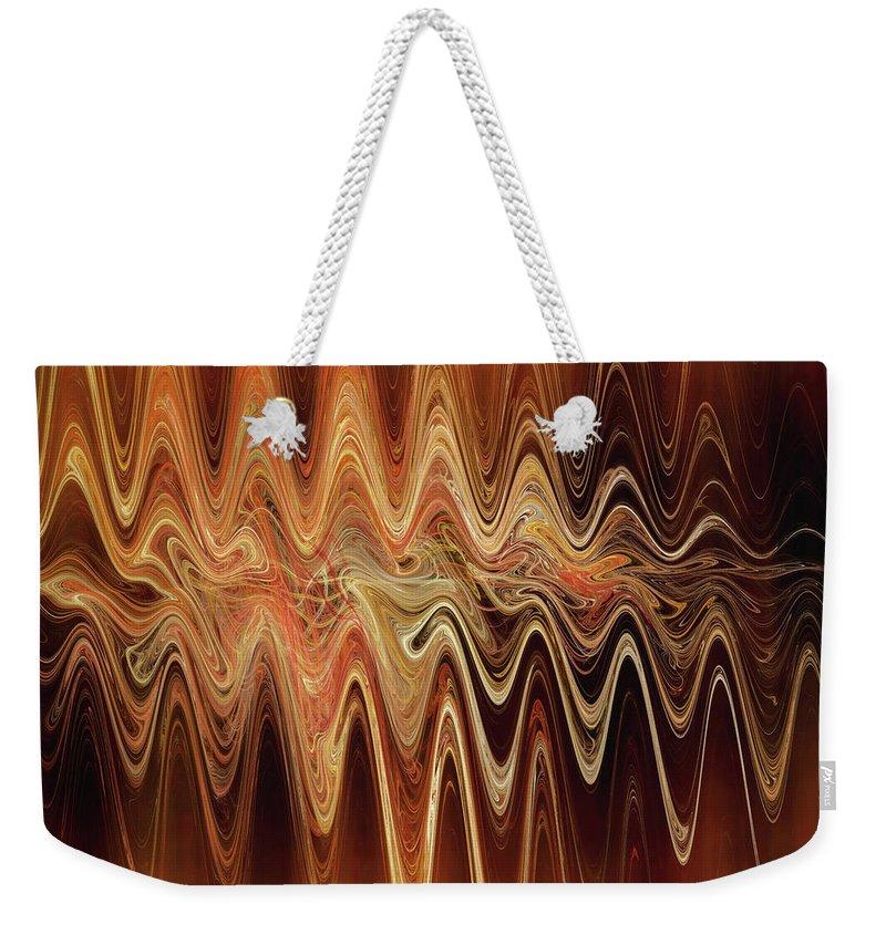 Earth Weekender Tote Bag featuring the digital art Earth Frequency by Menega Sabidussi