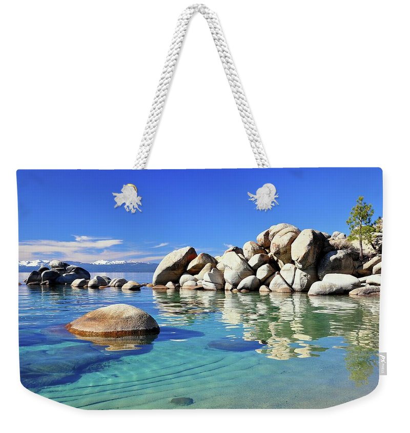 Tranquility Weekender Tote Bag featuring the photograph East Shore, Lake Tahoe, Nv by Stevedunleavy.com